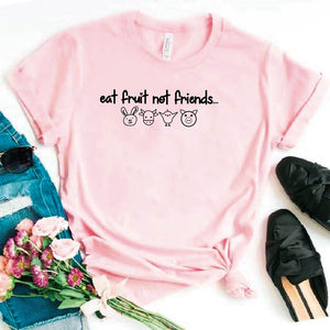 Camisa estampada tipo T- shirt EAT FRUITS NOT FRIENDS