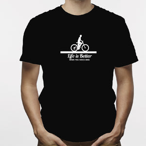 Camisa estampada para hombre  tipo T-shirt Life is better when you have a bike