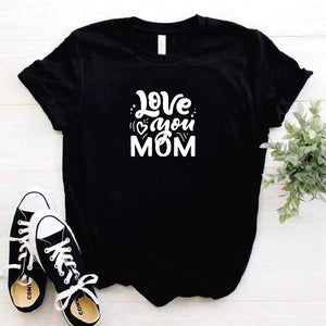Camisa estampada tipo T- shirt love you mom