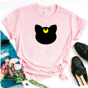 Camisa estampada tipo T- shirt Luna (Sailor Moon)