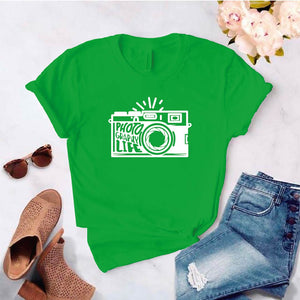 Camisa estampada tipo T- shirt PHOTOGRAPHY LIFE