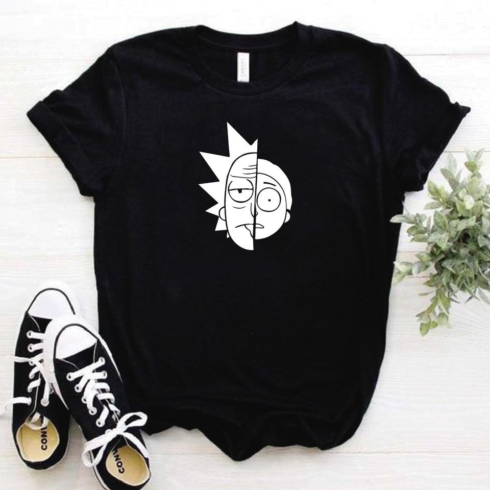 Camisa estampada  tipo T-shirt RICK AND MORTY MITAD DE CARA