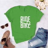 Camisa estampada  tipo T-shirt RIDE A BIKE