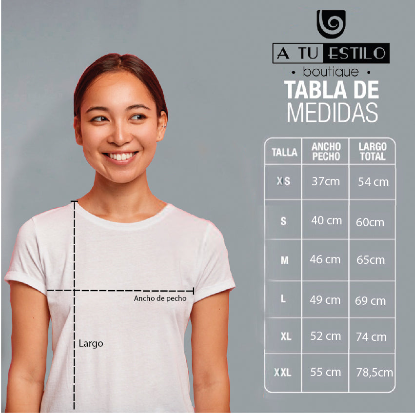 Camisa estampada tipo T- shirt NO INTERNET (DAMA)