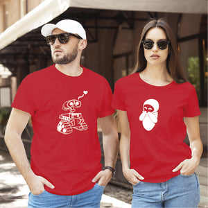 Camiseta estampada tipo T-shirt de pareja Walle & eva