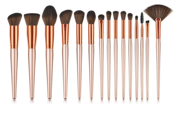 Cosmetic 15 pc brush set