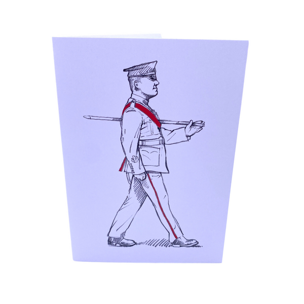 Greeting Card - Military on Parade