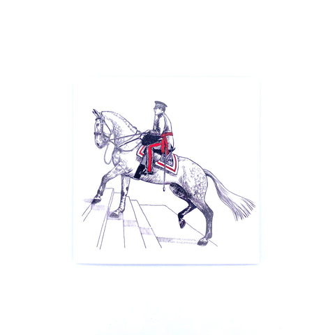 Greeting card - Adjutant and his Charger