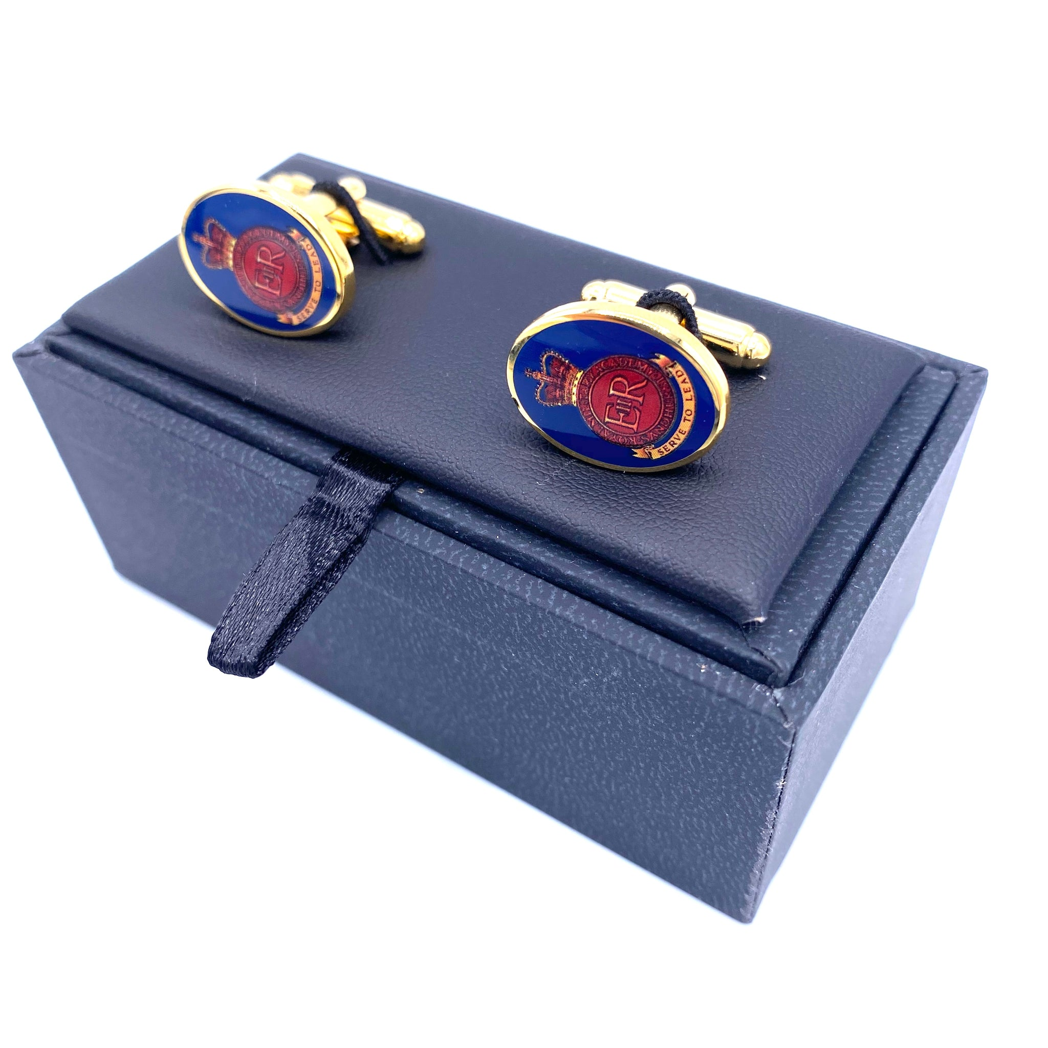 Cufflinks - RMAS Crested -Bar