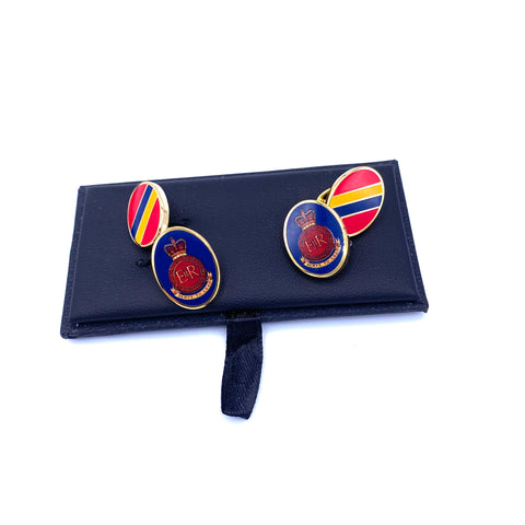 Cufflinks - RMAS Crested- Chain
