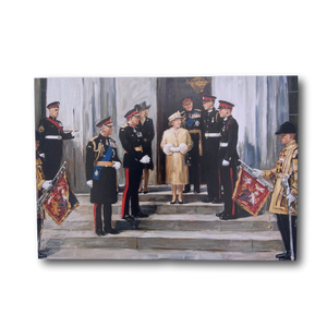 Postcard - Pavlenko Painting of Royal Family at RMAS