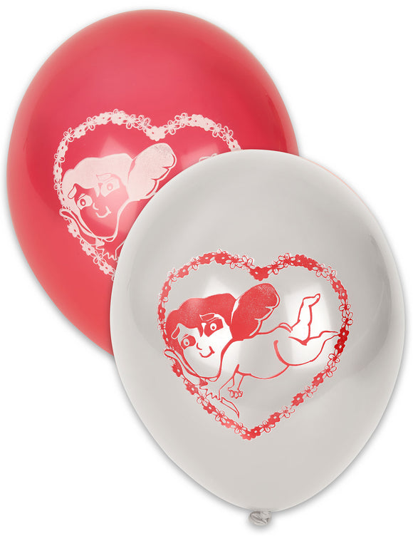 Ballons rouges et blancs Saint Valentin x 10 - La Boutique Bleue