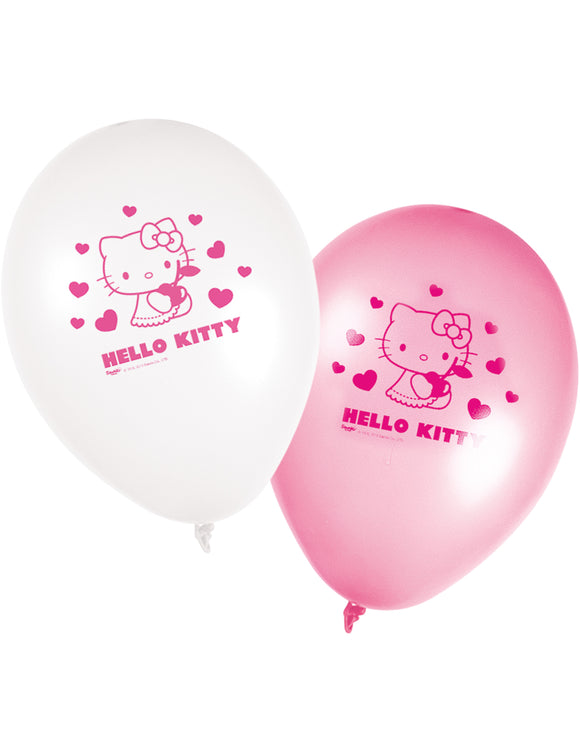 Ballons Hello Kitty™ x 8 - La Boutique Bleue