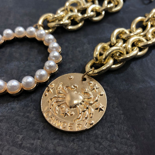 Chunky Chain Gold Coin Layering Bracelet - Damnbling