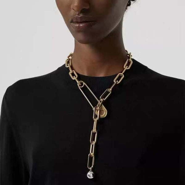 Super Chunky Long Chain Necklace - Damnbling