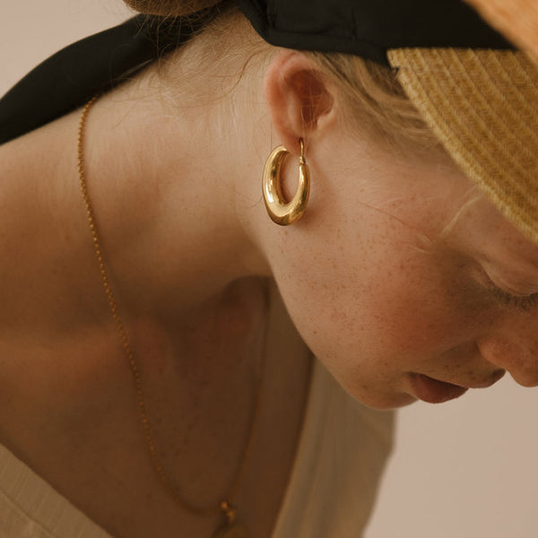 Classic Chunky Gold Earrings - Damnbling
