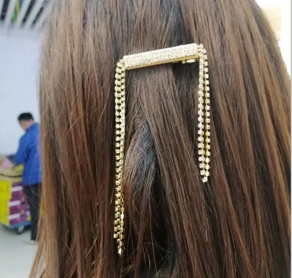 Tassel Diamond Hair Pin - Damnbling
