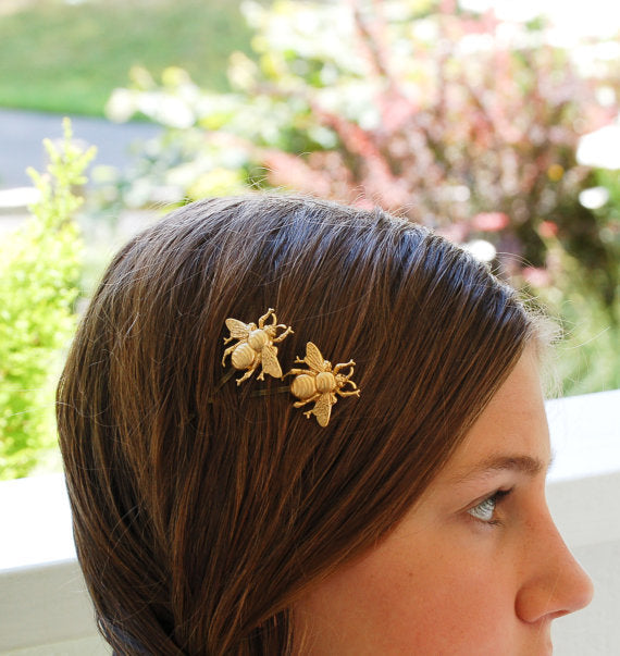 GC Style Gold Bee Hair Pin Set - Damnbling