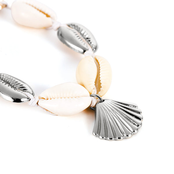 Metallic Sea Shell Foot Chain Anklet - Damnbling