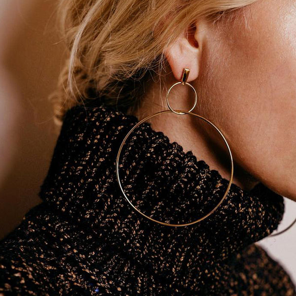 Minimalism Double Hoop Earrings - Damnbling