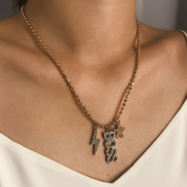 BOSS Text Pendent Necklace - Damnbling