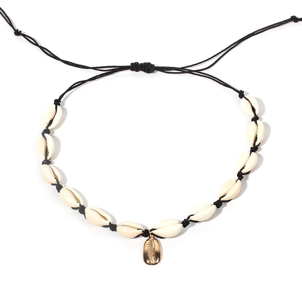 White Sea Shell Short Necklace - Damnbling