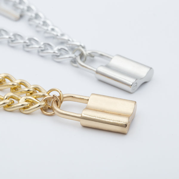 Lock with Key Double Layering Necklace - Damnbling