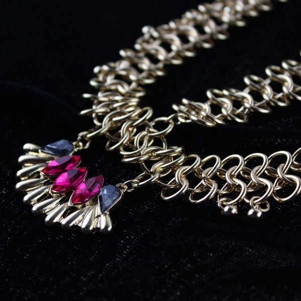 Ruby Stone Chain Headband - Damnbling