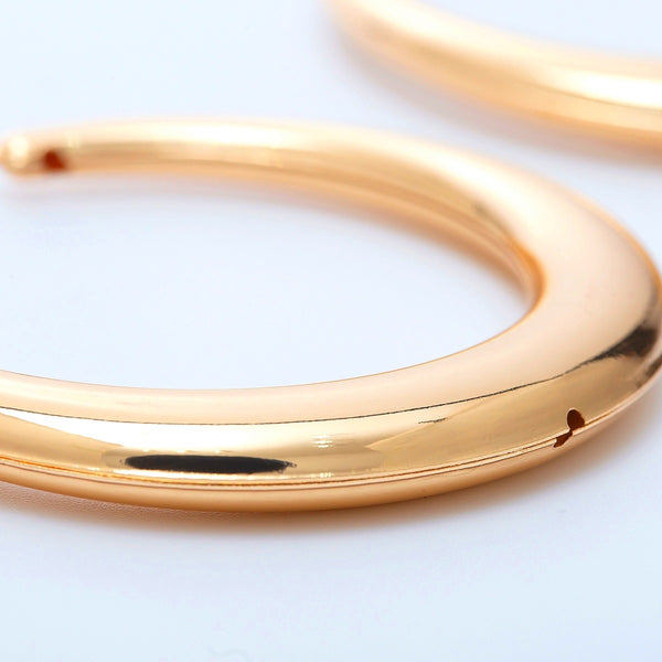 Classic Chunky Gold Hoop Earrings - Damnbling