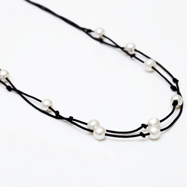 Double Petite Pearl Choker - Damnbling
