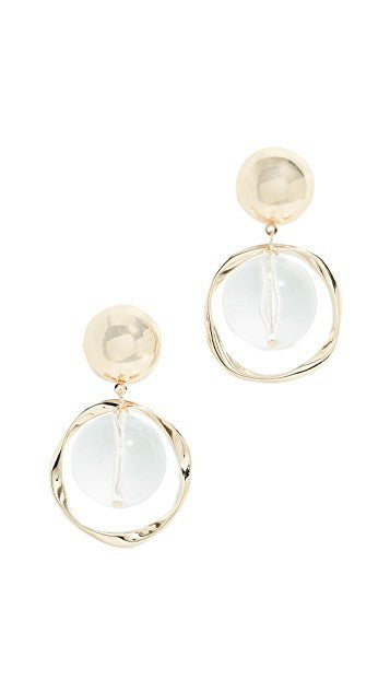 Clear Beads Drop Earrings - Damnbling
