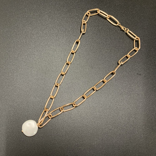 Chunky Pearl Pendent Necklace - Damnbling