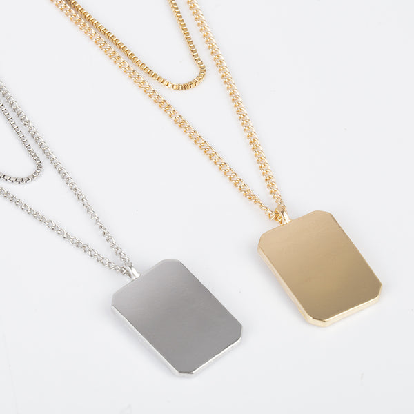 Minimalism Gold Plate Layering Necklace - Damnbling