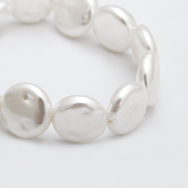 Pearl Sea Shell Layering Bracelet Set - Damnbling