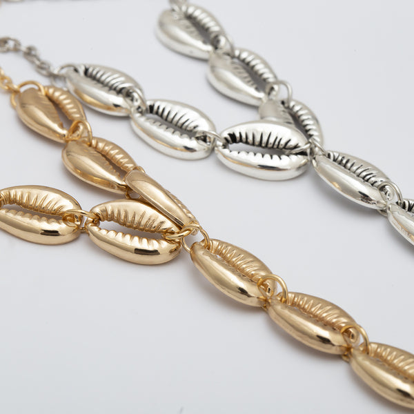 Gold Sea Shell Foot Chain - Damnbling