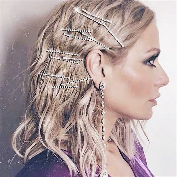 Modern Diamond Hair Pin Set - Damnbling