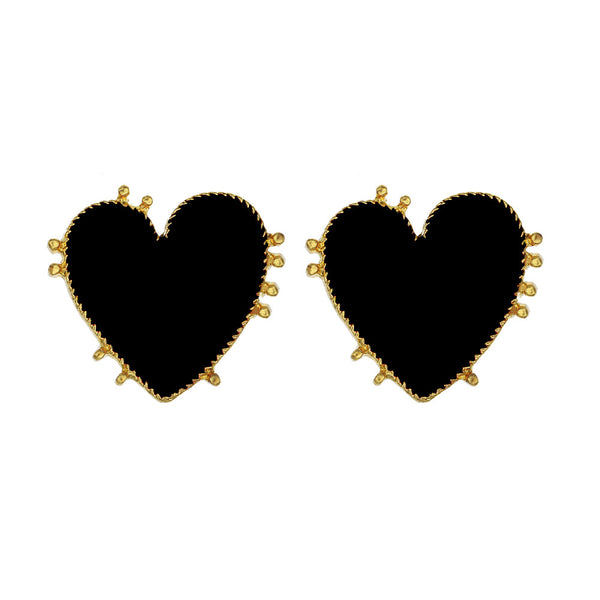 Biggie Heart Statement Post Earrings - Damnbling