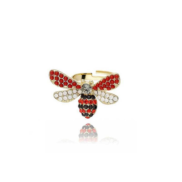 Diamond Bee Adjustable Ring - Damnbling