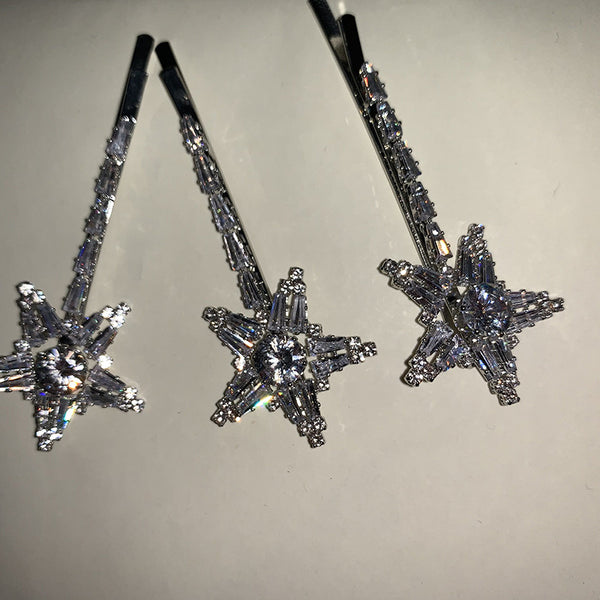 Handmade Pentagram Diamond Star Hair Pin - Damnbling