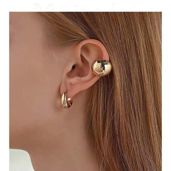 Metallic Bead Ear Cuff Set - Damnbling