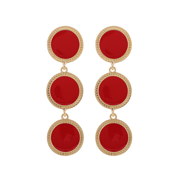 Statement Round Drop Earrings - Damnbling