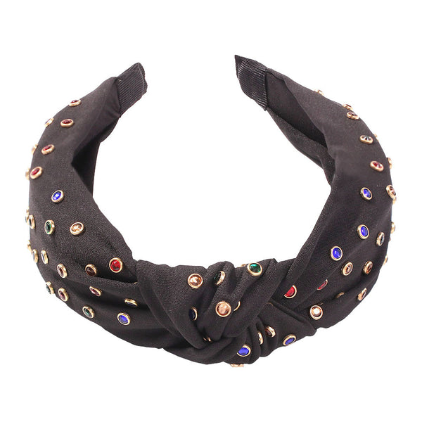 Gem Rain Fabric Headband - Damnbling