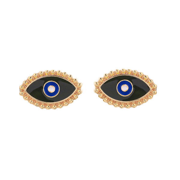Evil Eye Post Earrings - Damnbling