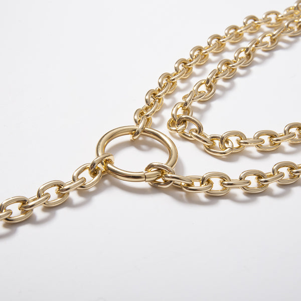 Chunky Chain Statement Pendent Necklace - Damnbling