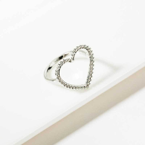 Hollow Heart Statement Ring - Damnbling