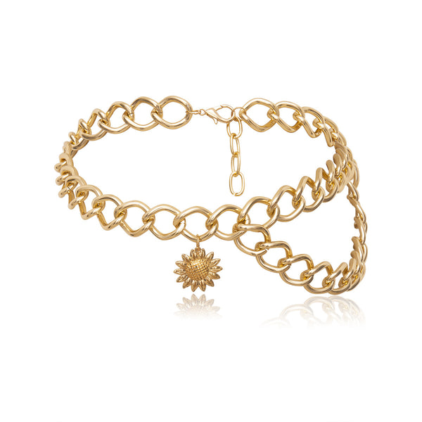 Sun Goddess Big Curb Chain Belt - Damnbling