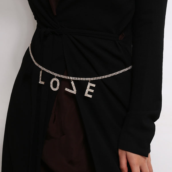 LOVE Text Chain Belt - Damnbling