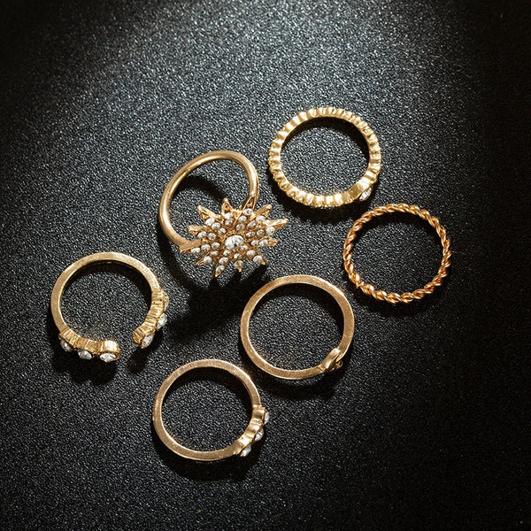 Sparkle Diamond Ring Set - Damnbling