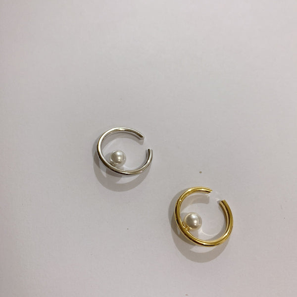 Petite Pearl Mini Hoop Earrings - Damnbling
