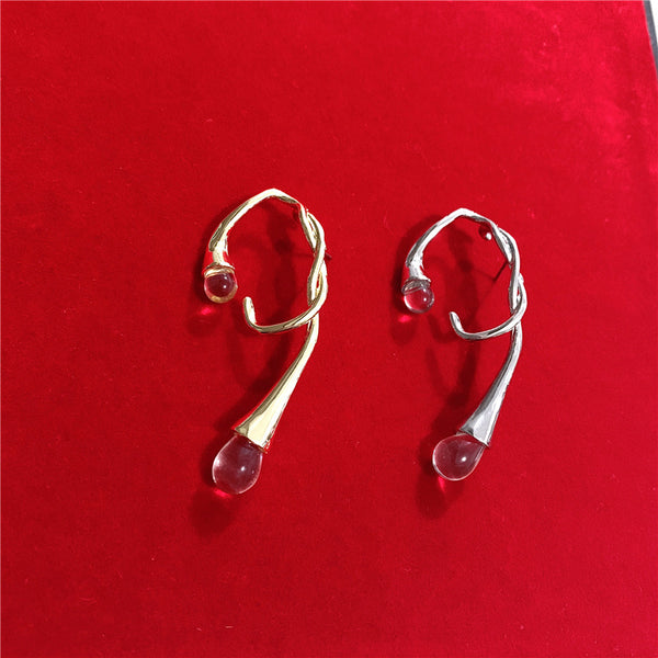 Twisted Crystal Earrings - Damnbling